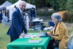 "John Weston with ""How Hampstead Heath was saved' author Helen Lawrence"