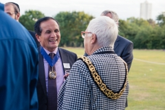 Deputy Mayor of Barnet Lachya Gurung with Mayor of Haringey Sheila Peacock
